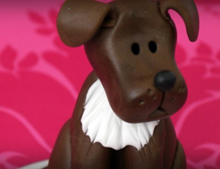 Picture of edible model sugar dog