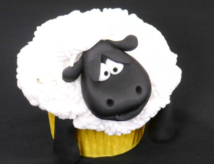 Picture off sheep cupcake