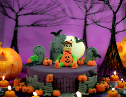 Halloween Pumpkins Cake