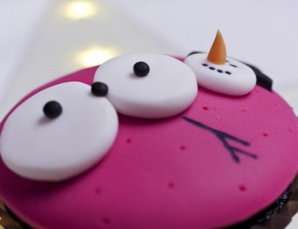 Picture of snowman cupcake