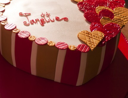 Picture of love heart cake