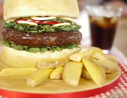 Burger and Chips Cake