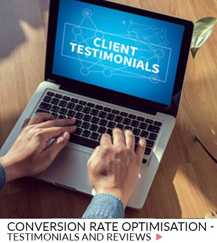 Conversion rate optimisation – Testimonials and reviews