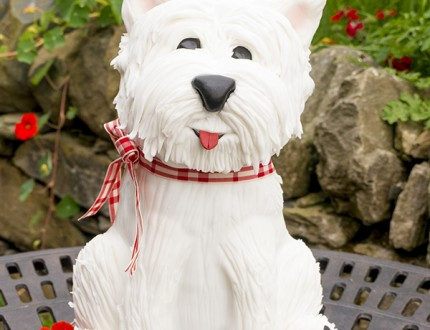 Picture of west terrier dog cake