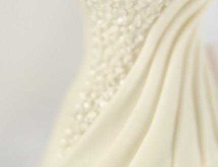 Picture of wedding dress cake