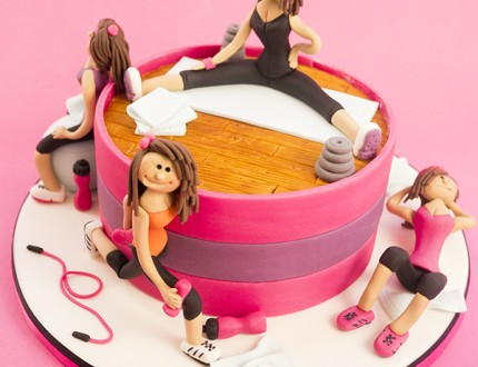 Picture of female fitness cake