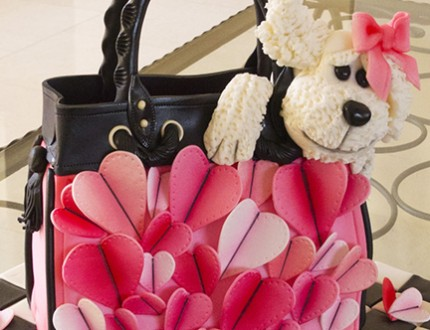Handbag and Dog Cake