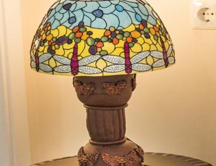 Tiffany Style Lamp Cake