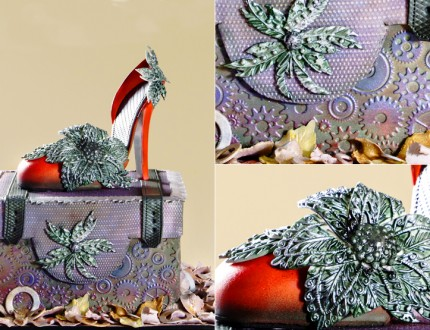 Steampunk Stiletto Shoe Cake
