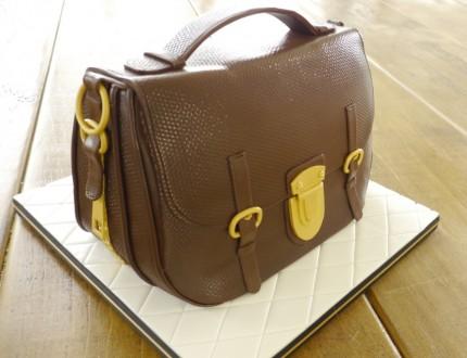 Designer Satchel Handbag Cake