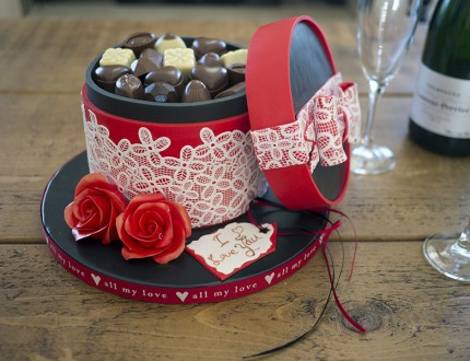 Box of Chocolates Valentine's Cake