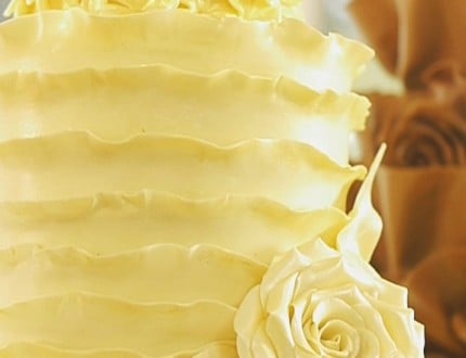 White Summer Wedding Cake