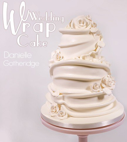 Simple Wrap Wedding Cake