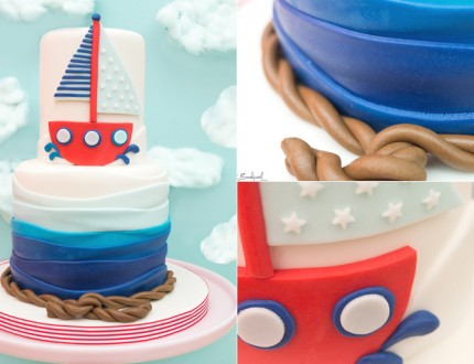 Sailor Boy Boat Cake