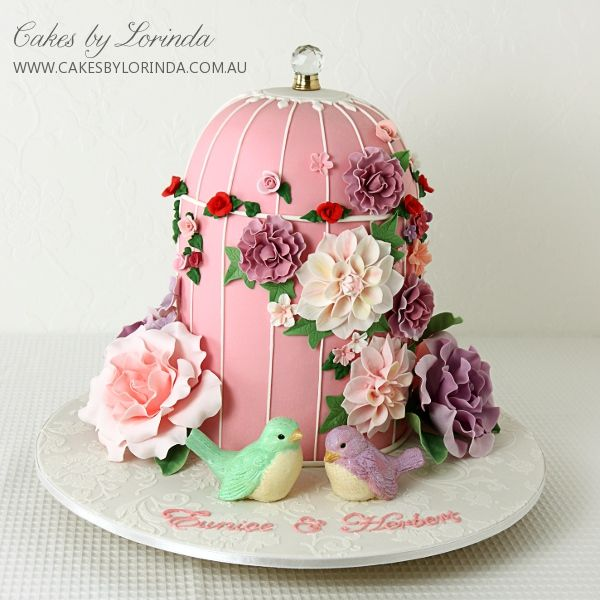 Hummingbird Shaped Cake