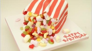 food inspired cake - sweeties