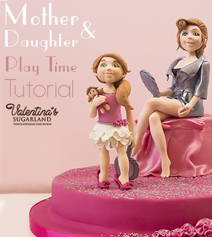 Mother & Daughter Playtime Cake