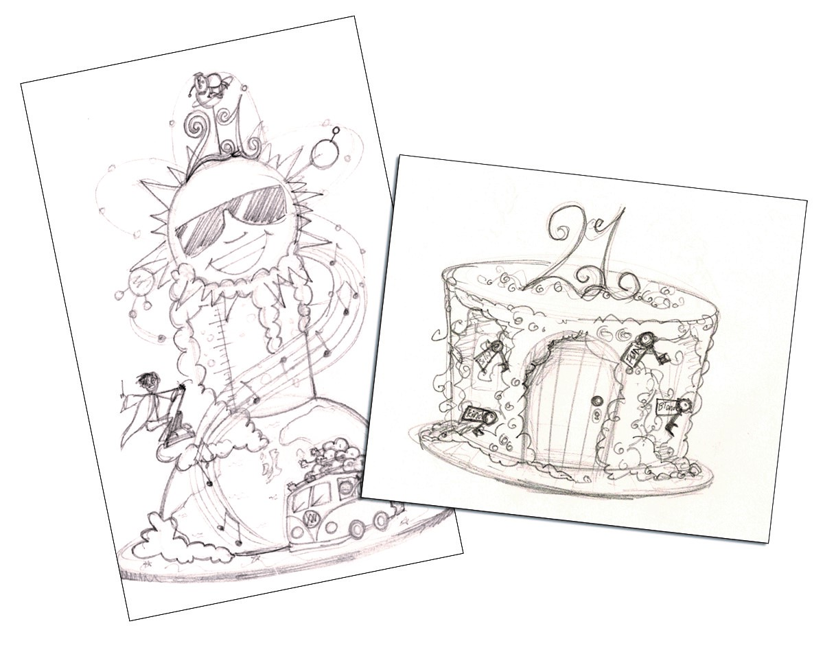 janette's pencil cakes designs
