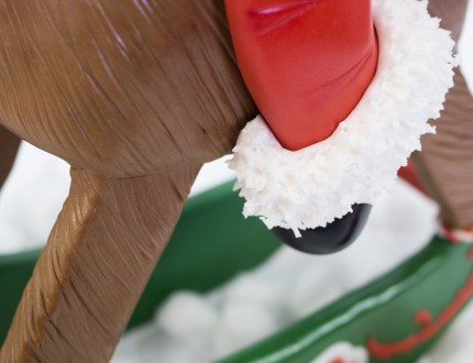 Close up of Santa's foot
