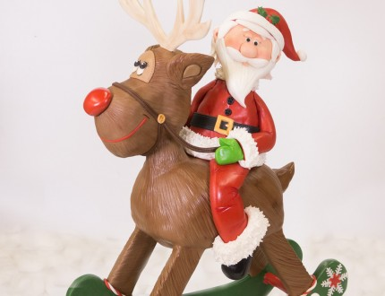 Picture of Rudolph and Santa