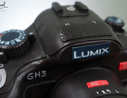 Close Up picture of camera cake