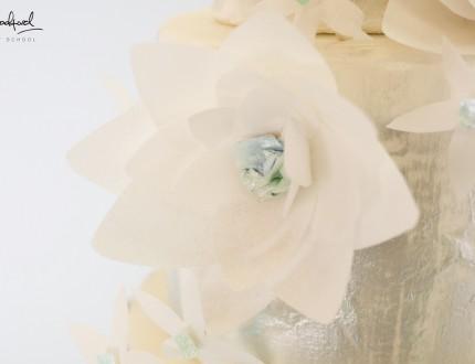 Close up of wafer flower