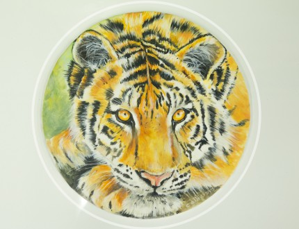 Picture of tiger painting