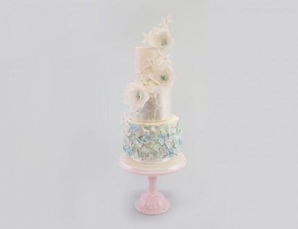 Full Image of textured wedding cake