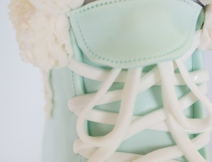 Close up of laces