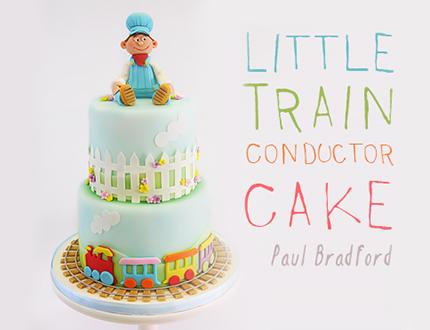 Little Train Conductor Cake