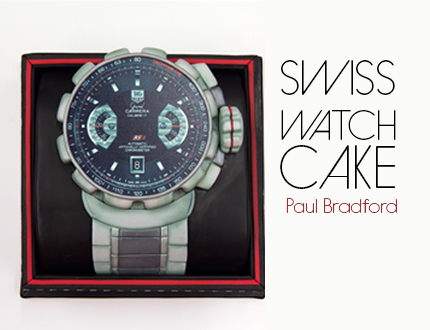 Swiss Watch Cake