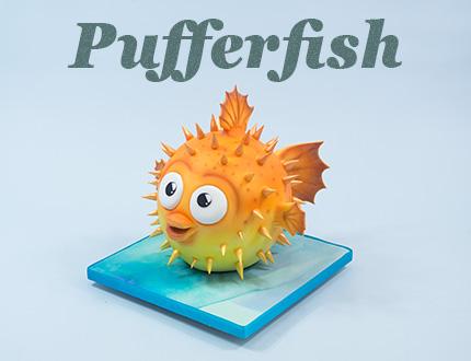 Pufferfish Cake