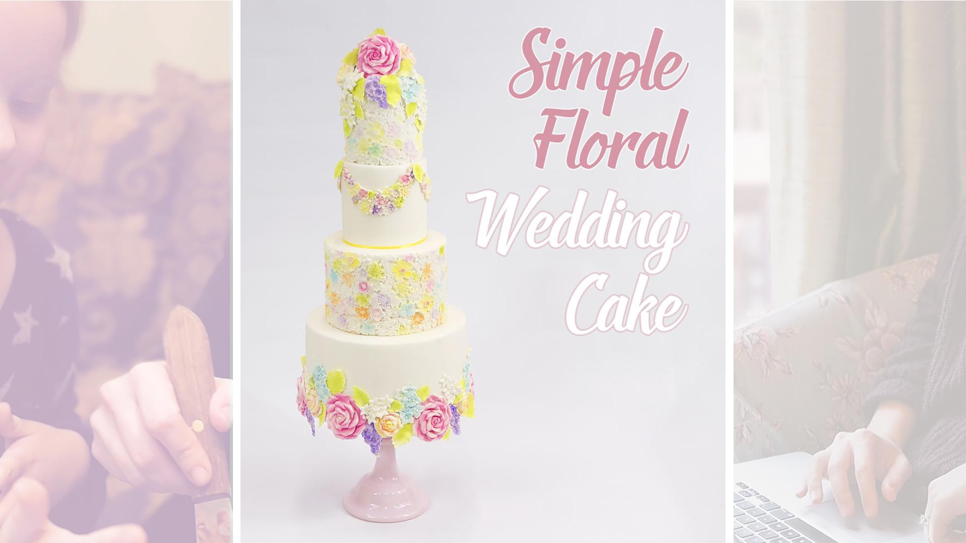 Simple Floral Wedding Cake Cakeflix
