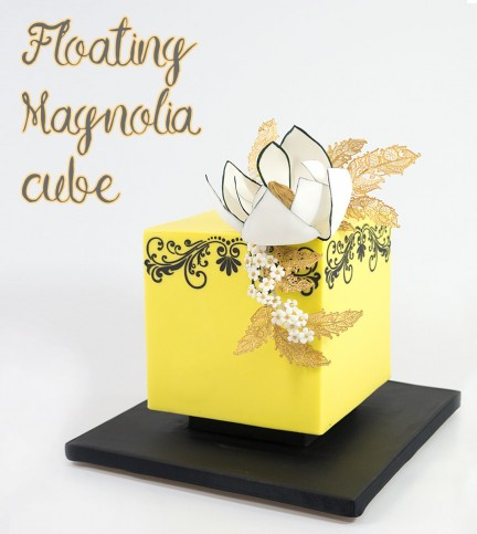Floating Magnolia Cube