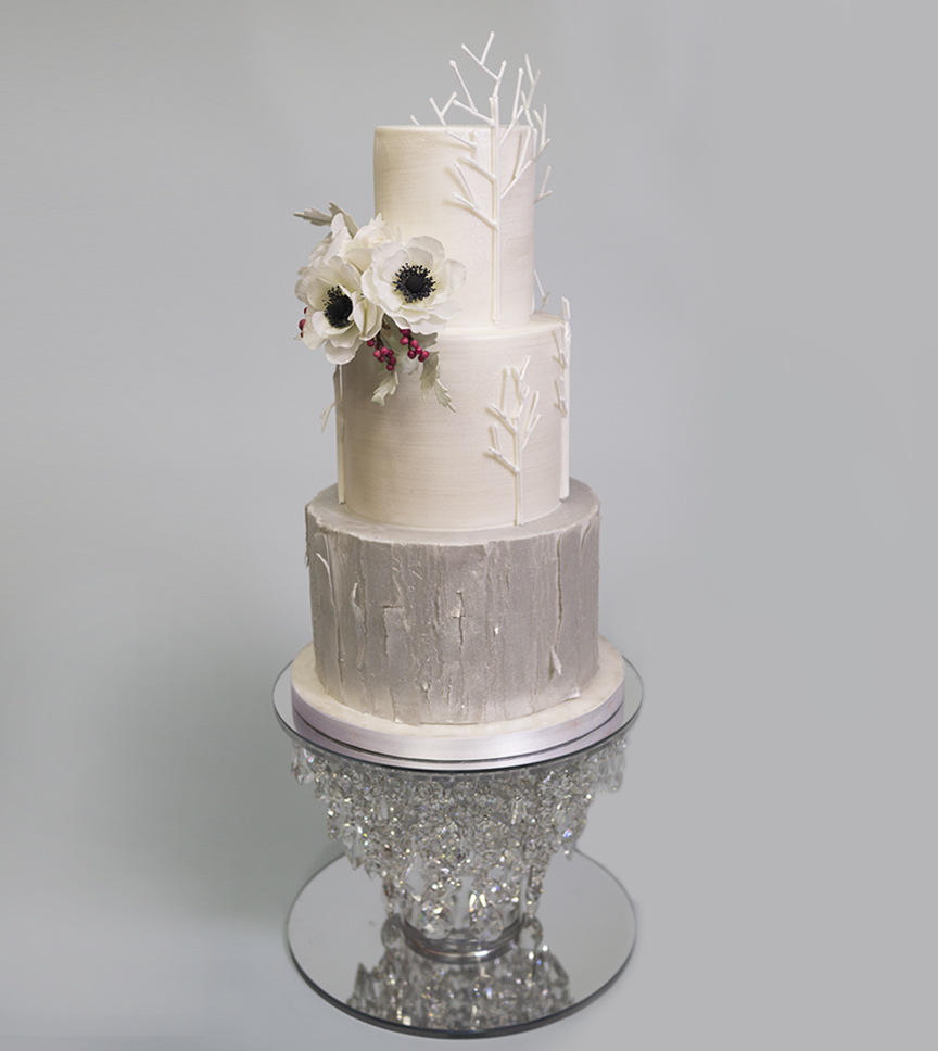 Winter Wedding Cake - Part 2 - CakeFlix