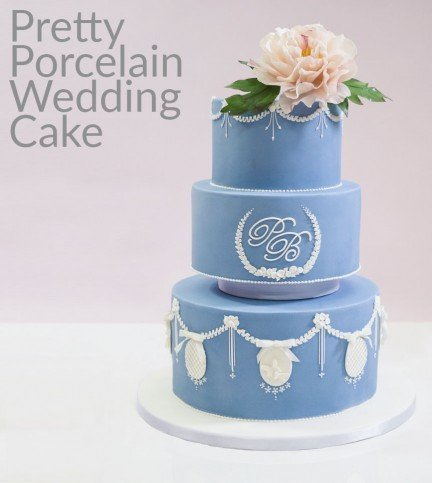 Pretty Porcelain Wedding Cake