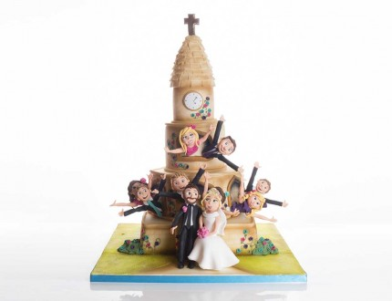 Picture of bridal party cake