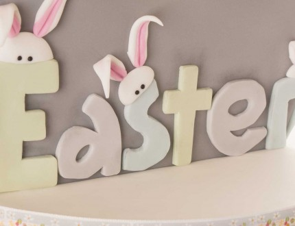Easter-duckling-cake--close-up-letters