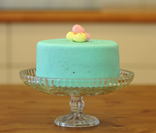 speckled easter cake