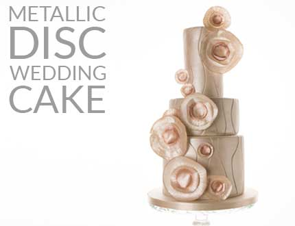 Metallic Disc Wedding Cake