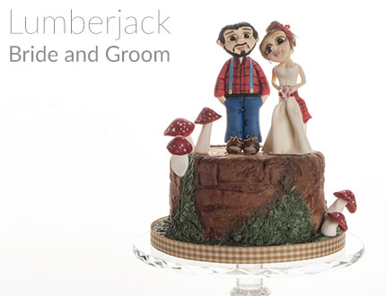Lumberjack Bride and Groom