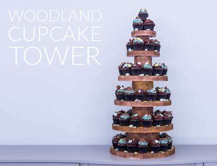 Woodland Cupcake Tower