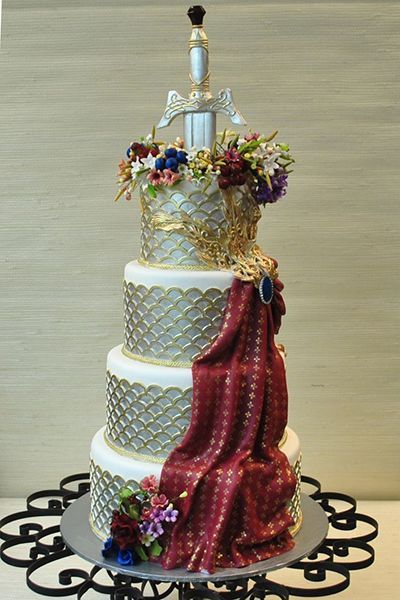 Red Wedding themed cake