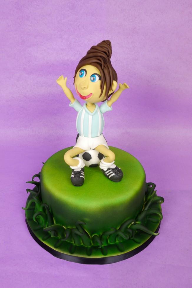 football girl cake