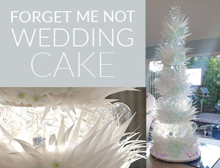 Forget Me Not Wedding Cake