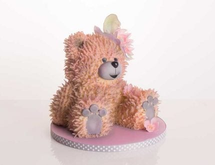 learn how to make a vintage teddy bear cake
