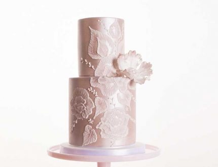 brush embroidery wedding cake tutorial