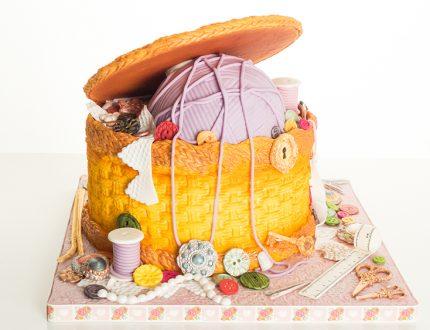 sewing basket cake tutorial