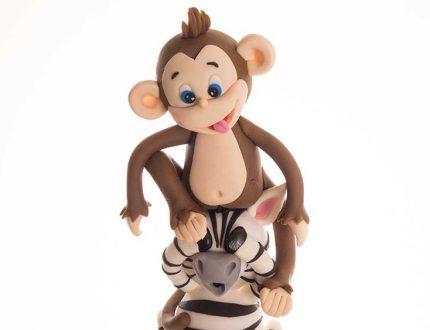 circus cake - monkey cake, zebra cake, elephant cake