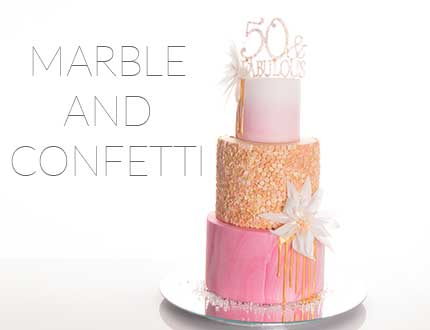 Marble and Confetti